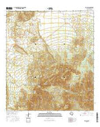 The Basin Texas Current topographic map, 1:24000 scale, 7.5 X 7.5 Minute, Year 2016 from Texas Map Store
