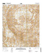 The Solitario Texas Current topographic map, 1:24000 scale, 7.5 X 7.5 Minute, Year 2016 from Texas Map Store