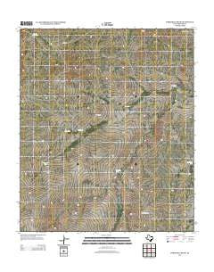 Threemile Draw Texas Historical topographic map, 1:24000 scale, 7.5 X 7.5 Minute, Year 2012