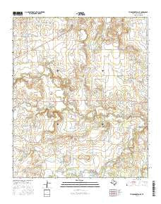 Throckmorton NE Texas Current topographic map, 1:24000 scale, 7.5 X 7.5 Minute, Year 2016