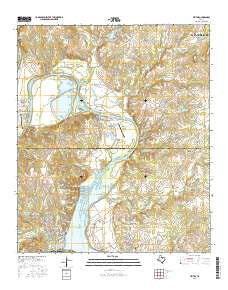 Tin Top Texas Current topographic map, 1:24000 scale, 7.5 X 7.5 Minute, Year 2016