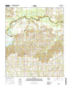 Tira Texas Current topographic map, 1:24000 scale, 7.5 X 7.5 Minute, Year 2016