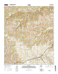 Tolar Texas Current topographic map, 1:24000 scale, 7.5 X 7.5 Minute, Year 2016