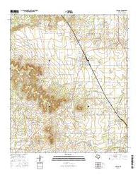 Tuscola Texas Current topographic map, 1:24000 scale, 7.5 X 7.5 Minute, Year 2016