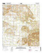 Twin Peaks Texas Current topographic map, 1:24000 scale, 7.5 X 7.5 Minute, Year 2016 from Texas Map Store