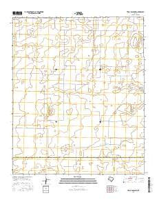 Two B Ranch NW Texas Current topographic map, 1:24000 scale, 7.5 X 7.5 Minute, Year 2016
