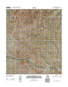 Two Mill Draw East Texas Historical topographic map, 1:24000 scale, 7.5 X 7.5 Minute, Year 2012