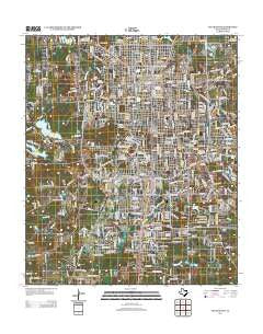 Tyler South Texas Historical topographic map, 1:24000 scale, 7.5 X 7.5 Minute, Year 2012