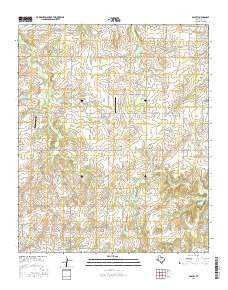 Vashti Texas Current topographic map, 1:24000 scale, 7.5 X 7.5 Minute, Year 2016