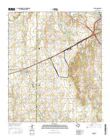 Venus Texas Current topographic map, 1:24000 scale, 7.5 X 7.5 Minute, Year 2016