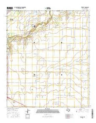 Veribest Texas Current topographic map, 1:24000 scale, 7.5 X 7.5 Minute, Year 2016