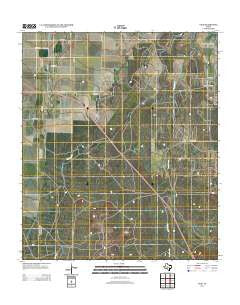 Vick Texas Historical topographic map, 1:24000 scale, 7.5 X 7.5 Minute, Year 2012