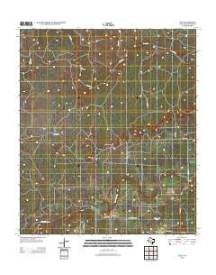 Voca Texas Historical topographic map, 1:24000 scale, 7.5 X 7.5 Minute, Year 2012