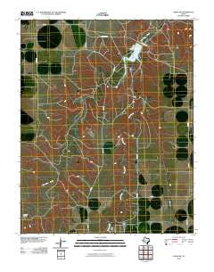 Waka SW Texas Historical topographic map, 1:24000 scale, 7.5 X 7.5 Minute, Year 2010