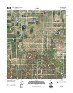 Wall Texas Historical topographic map, 1:24000 scale, 7.5 X 7.5 Minute, Year 2012