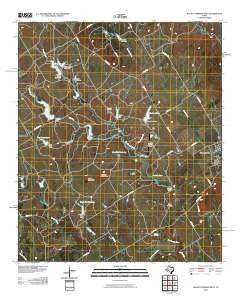 Walnut Springs West Texas Historical topographic map, 1:24000 scale, 7.5 X 7.5 Minute, Year 2010