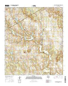 Walnut Springs West Texas Current topographic map, 1:24000 scale, 7.5 X 7.5 Minute, Year 2016