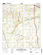 Warren Lake Texas Current topographic map, 1:24000 scale, 7.5 X 7.5 Minute, Year 2016 from Texas Map Store