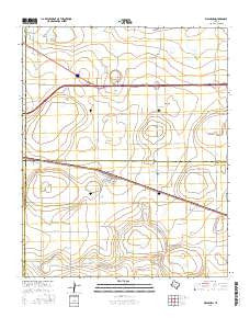 Washburn Texas Current topographic map, 1:24000 scale, 7.5 X 7.5 Minute, Year 2016