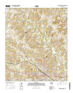 Weatherford North Texas Current topographic map, 1:24000 scale, 7.5 X 7.5 Minute, Year 2016 from Texas Map Store