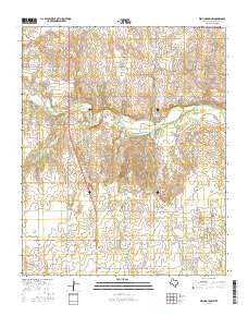 Wellington NW Texas Current topographic map, 1:24000 scale, 7.5 X 7.5 Minute, Year 2016