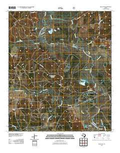 Wells SW Texas Historical topographic map, 1:24000 scale, 7.5 X 7.5 Minute, Year 2010