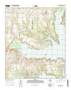 West Tawakoni Texas Current topographic map, 1:24000 scale, 7.5 X 7.5 Minute, Year 2016 from Texas Map Store