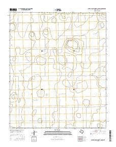 West of Dick Moore Canyon Texas Current topographic map, 1:24000 scale, 7.5 X 7.5 Minute, Year 2016