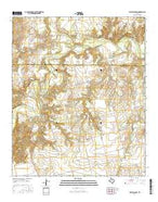 White Canyon Texas Current topographic map, 1:24000 scale, 7.5 X 7.5 Minute, Year 2016 from Texas Map Store