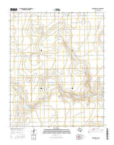 White Deer SW Texas Current topographic map, 1:24000 scale, 7.5 X 7.5 Minute, Year 2016