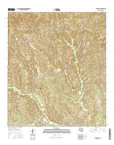 Wiergate Texas Current topographic map, 1:24000 scale, 7.5 X 7.5 Minute, Year 2016