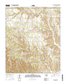 Willow Arroyo Texas Current topographic map, 1:24000 scale, 7.5 X 7.5 Minute, Year 2016