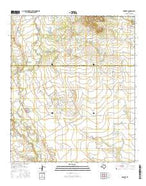 Wingate Texas Current topographic map, 1:24000 scale, 7.5 X 7.5 Minute, Year 2016 from Texas Map Store