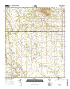 Wingate Texas Current topographic map, 1:24000 scale, 7.5 X 7.5 Minute, Year 2016