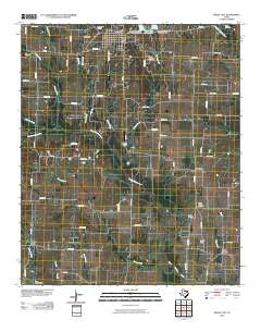 Wolfe City Texas Historical topographic map, 1:24000 scale, 7.5 X 7.5 Minute, Year 2010