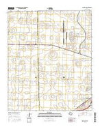 Wolfforth Texas Current topographic map, 1:24000 scale, 7.5 X 7.5 Minute, Year 2016 from Texas Map Store