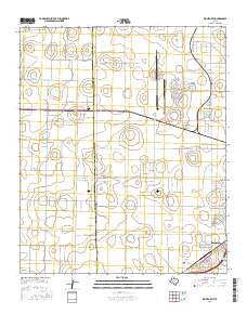 Wolfforth Texas Current topographic map, 1:24000 scale, 7.5 X 7.5 Minute, Year 2016