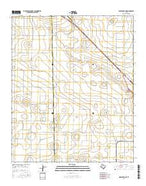 Wolfforth NE Texas Current topographic map, 1:24000 scale, 7.5 X 7.5 Minute, Year 2016 from Texas Map Store