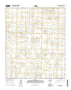 Wolfforth NW Texas Current topographic map, 1:24000 scale, 7.5 X 7.5 Minute, Year 2016 from Texas Map Store