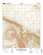 Y E Mesa Texas Current topographic map, 1:24000 scale, 7.5 X 7.5 Minute, Year 2016 from Texas Map Store