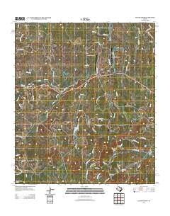Yeager Creek Texas Historical topographic map, 1:24000 scale, 7.5 X 7.5 Minute, Year 2012