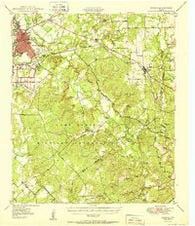 Zephyr Texas Historical topographic map, 1:62500 scale, 15 X 15 Minute, Year 1950