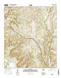 Zephyr Texas Current topographic map, 1:24000 scale, 7.5 X 7.5 Minute, Year 2016