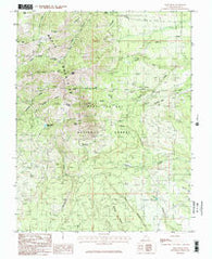 Abajo Peak Utah Historical topographic map, 1:24000 scale, 7.5 X 7.5 Minute, Year 1985