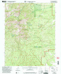 Abajo Peak Utah Historical topographic map, 1:24000 scale, 7.5 X 7.5 Minute, Year 2001