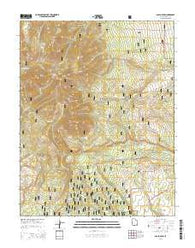 Abajo Peak Utah Current topographic map, 1:24000 scale, 7.5 X 7.5 Minute, Year 2014