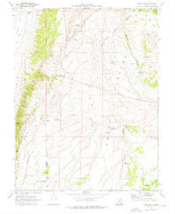 Abes Knoll Utah Historical topographic map, 1:24000 scale, 7.5 X 7.5 Minute, Year 1969