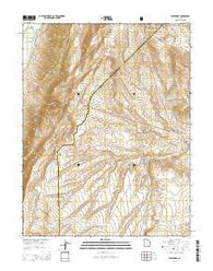 Abes Knoll Utah Current topographic map, 1:24000 scale, 7.5 X 7.5 Minute, Year 2014