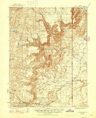 Acord Lakes Utah Historical topographic map, 1:62500 scale, 15 X 15 Minute, Year 1925