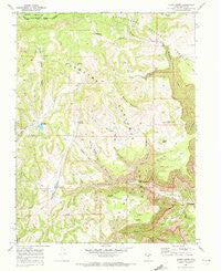 Acord Lakes Utah Historical topographic map, 1:24000 scale, 7.5 X 7.5 Minute, Year 1968